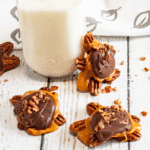 Caramel Bacon Pretzel Turtles