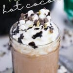 Crockpot Thin Mint Hot Chocolate