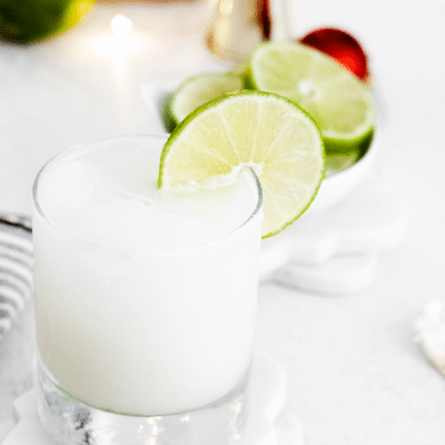 coconut margarita in a glass