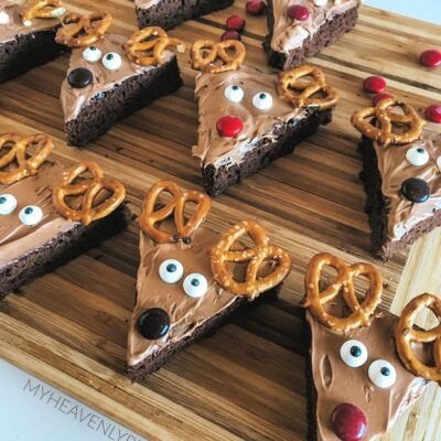 reindeer shaped brownies