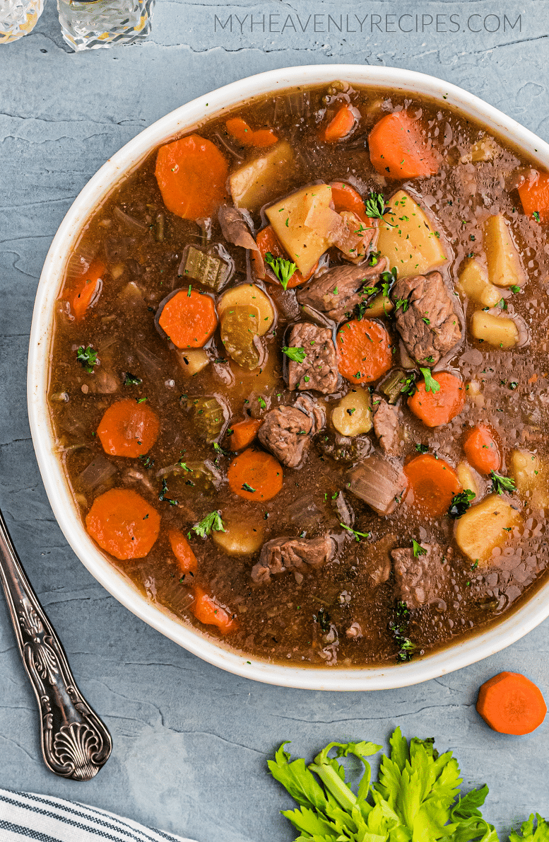Slow Cooker Irish Beef Stew Recipe My Heavenly Recipes