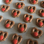 Rudolph the Red Nose Reindeer Pretzels